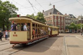 Buitenhof - oude trams 20051